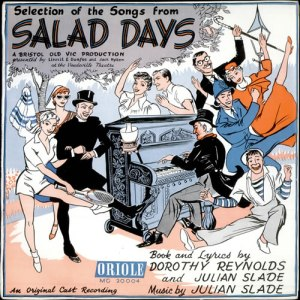 original album cover for the musical, 'Salad Days', 1954