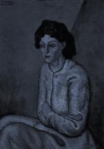 'Femme aux Bras Croises' in monochrome