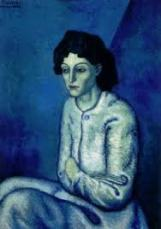 "'Femme aux Bras Croises', Picasso, 1901/2, oil on canvas, 32""x 23"""