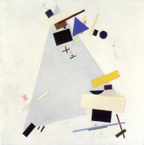 'Dynamic Suprematism' Malevich, 1916-17, oil on canvas, 80 x 80 cms