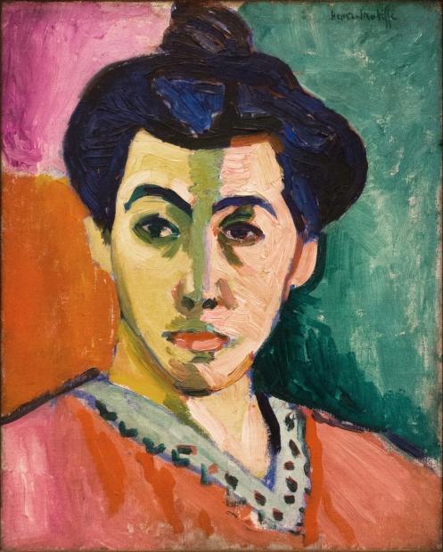 PORTRAIT OF MADAME MATISSE : THE GREEN STRIPE Matisse, 1906, oil on canvas, 1'4'' x 1'½'' - 40 x 32cm, Statens Museum for Kunst Copenhagen, Denmark