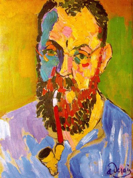 PORTRAIT OF MATISSE André Derain (1880-1954), 1905, oil on canvas, 1'6'' x 1'1'' - 46 x 34cm, Tate
