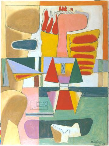 ADIEU VON, Le Corbusier, 1957, oil on canvas, 4'3'' x 3'2'' - 130 x 96cm, Fondation Le Corbusier