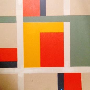 GEOMETRIC COLOURS 25, Peter Howard, 2008, acrylic on canvas, 1'8'' x 1'8'' - 51 x 51cm