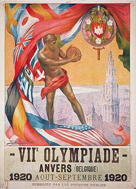 Poster for the 7th Olympiad, Antwerp, 1920, Wikimedia Commons