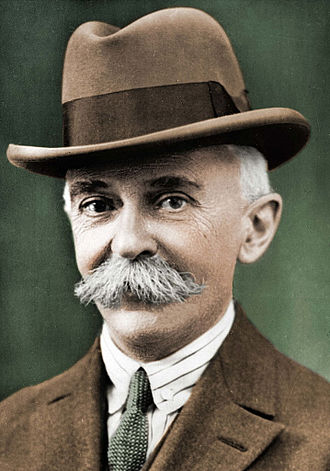 Pierre de Frédy, Baron de Coubertin (1863-1937) in 1925, French educator and historian, founder of the International Olympic Committee