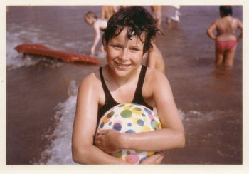 Me on the beach aged 9