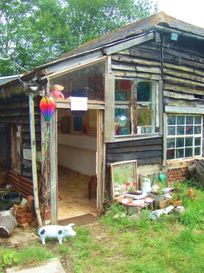 My colourful country studio in a barn