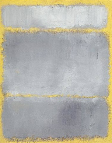 GRAYS IN YELLOW, Rothko, 1960, oil on paper, 1'11'' x 1'6'', Artnet Google Images